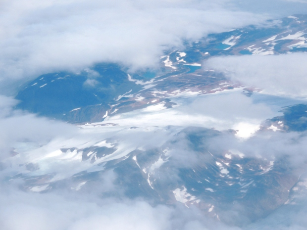 Greenland seen from above.